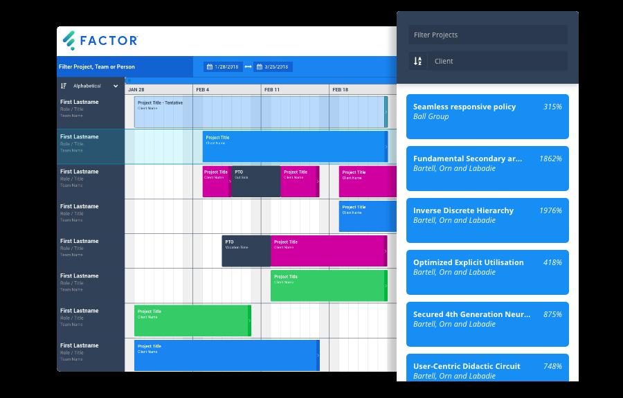 Factor Resource Schedule Tool