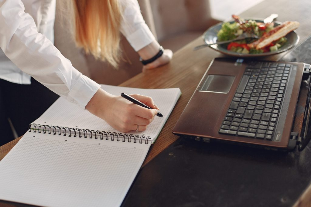 Young business women working remotely