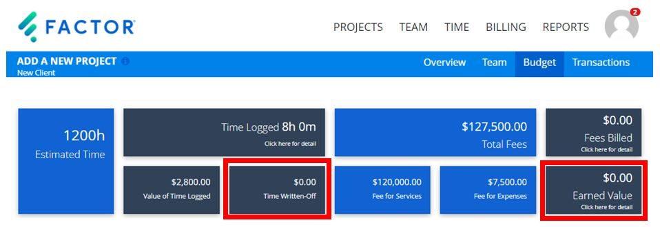 Factor Project Update Information Tiles