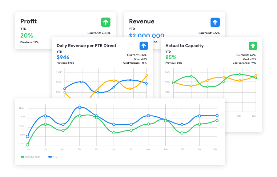 Factor Profit and Revenue Metrics on Dashboard