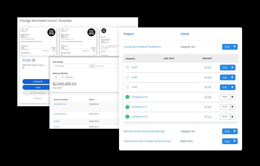 Factor Invoicing Screens