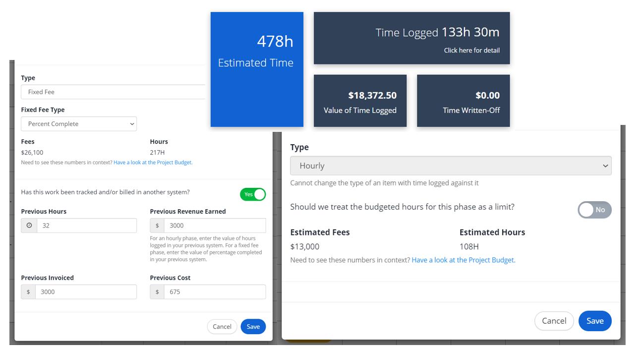 Fixed Fee vs Hourly Phases