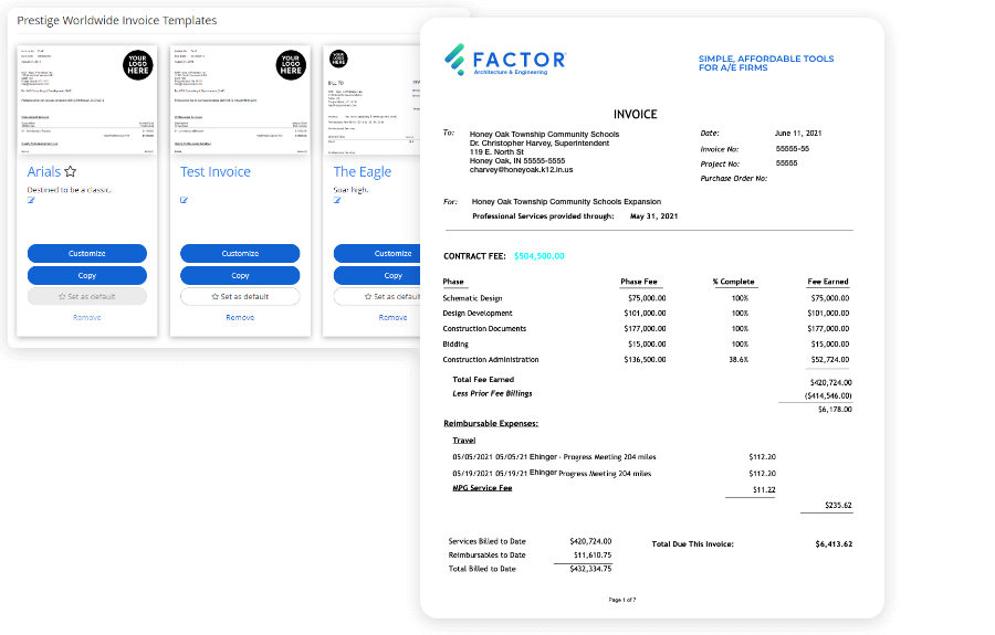 screens to design an invoice